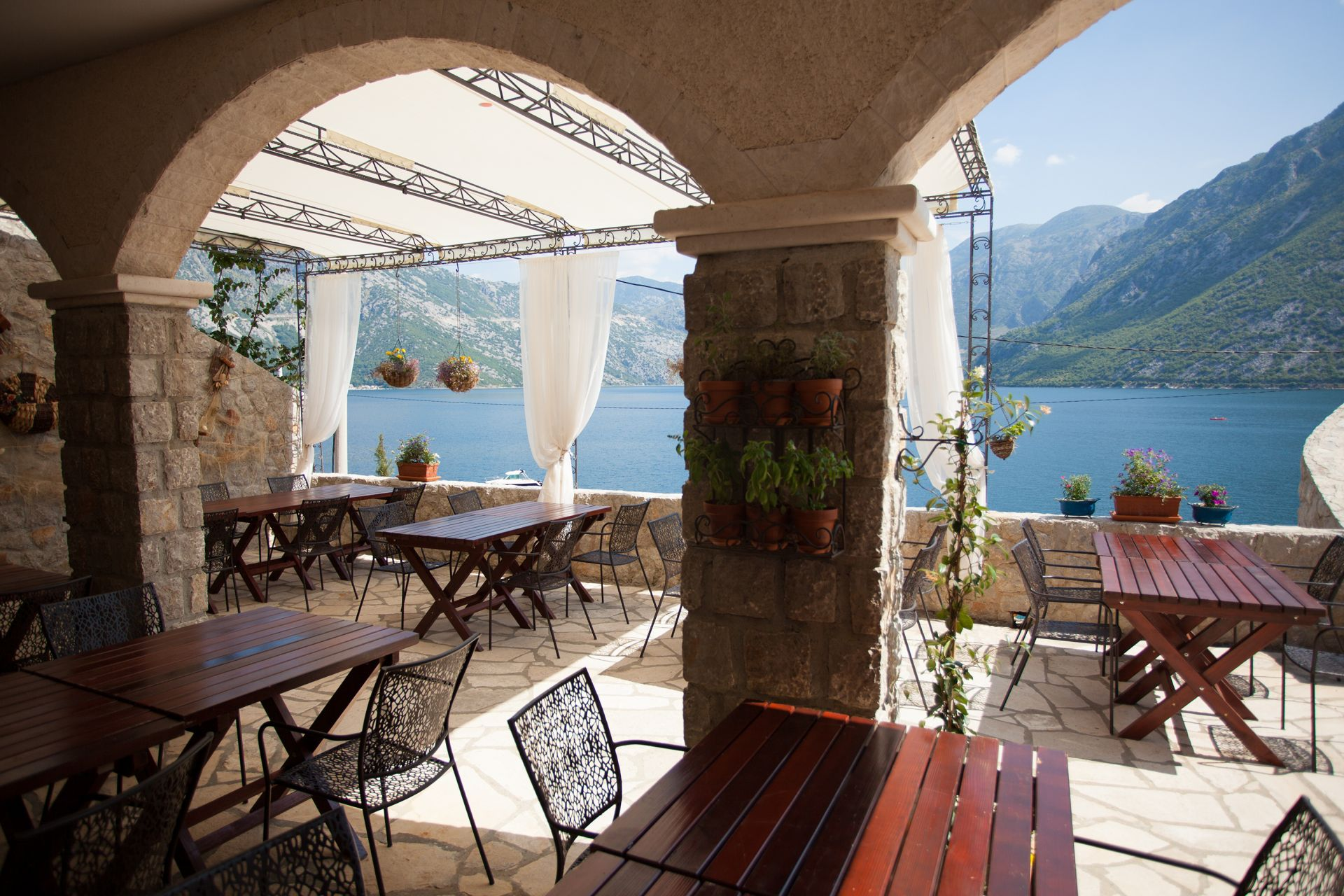 Enjoy in picturesque scenery of Boka Bay and autehntic style of the resort made with love and Montenegrin spirit, designed to blend in its magic surrondings of untouched nature.